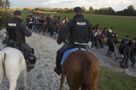 Slovenian troops will help police guard the border [AP]