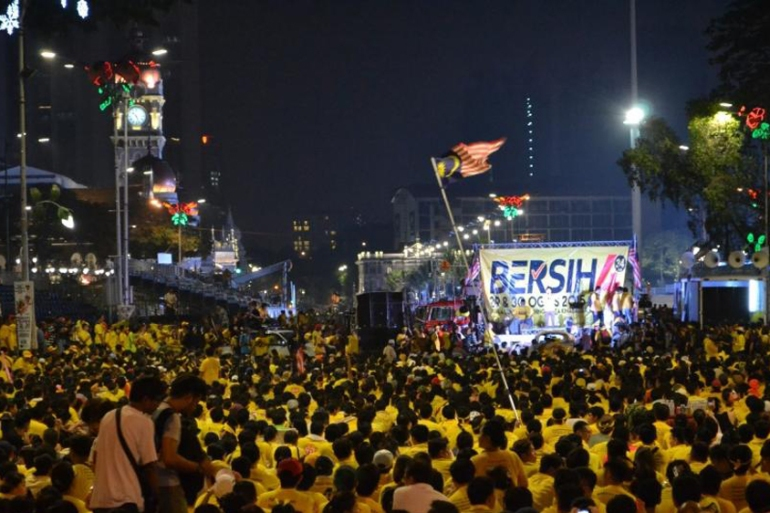 Demonstrators gathered during a Bersih rally in Kuala Lumpur in August [Phil Robertson/Human Rights Watch]