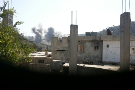 No casualties were reported in Saturday's strike at the hospital in the village of Barnas [Ahmad Haj Bakri/ Al Jazeera]