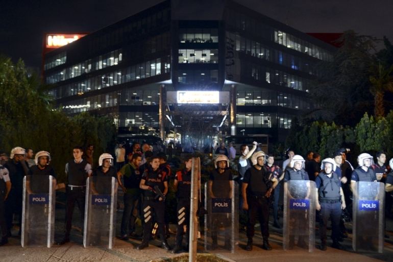 The headquarters of Hurriyet were attacked by Turkish nationalists last week [Reuters]