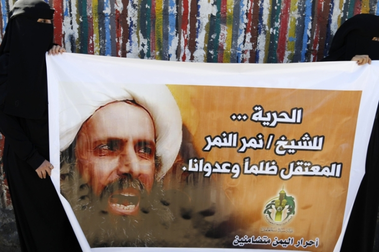 Sheikh Nimr al-Nimr in 2009 called for separating Shia-populated Qatif and al-Ihsaa governorates from Saudi Arabia [Reuters]