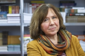 Alexievich won the prize for her portrayal of the harshness of life in the Soviet era [Reuters]