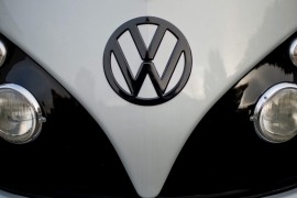 The emissions scandal has wiped as much as a third off VW's stock market value [Julian Stratenschulte/EPA]