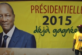 The vote is expected to see incumbent President Alpha Conde re-elected for the second term [Luc Gnago/Reuters]