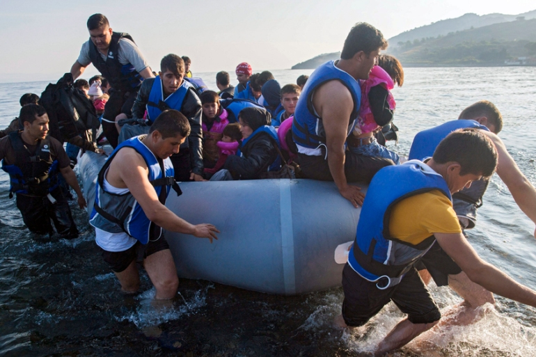More than 450,000 refugees have arrived by sea in Greece in 2015, according to the UN [Zoltan Balogh/EPA]