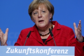 Merkel's party is meeting fierce resistance from their Social Democrat (SPD) coalition partners over plans for refugees transit zones [Reuters]