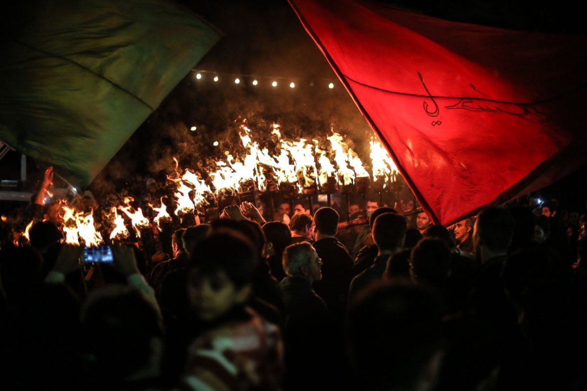 Ashoura marks the death of Imam Hussein, the grandson of the prophet in 680 AD in Karbala, near Baghdad in Iraq. [Mohammad Ali Najib/Al Jazeera]
