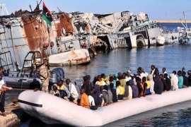 Traffickers trying to take people out by boat will run into EUNAVFOR MED once they enter international waters [EPA]
