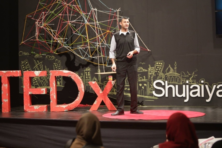Organisers said the event aimed to show the world that Palestinians have stories to tell and ideas to share [TEDxShujaiya via Facebook]