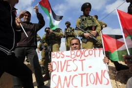 The international Boycott, Divestment and Sanctions (BDS) campaign against Israel has gained strength in recent years [EPA]