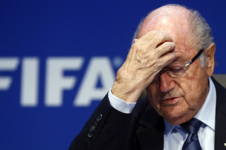Blatter has been questioned by Swiss authorities and is suspected of criminal mismanagement [Reuters]