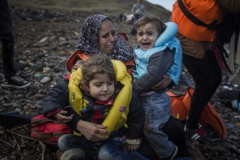 Greece over the last week experienced the largest single weekly influx of refugees this year [AP]