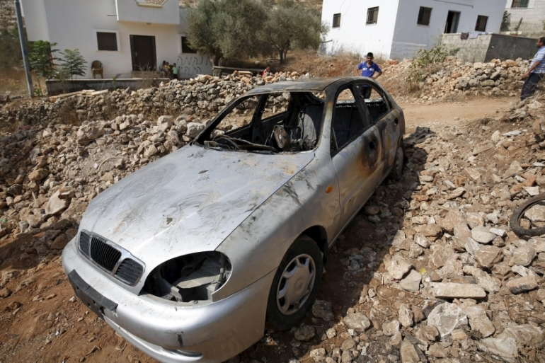 Dozens of Palestinian vehicles have been burned or smashed as settler attacks escalate [Reuters]