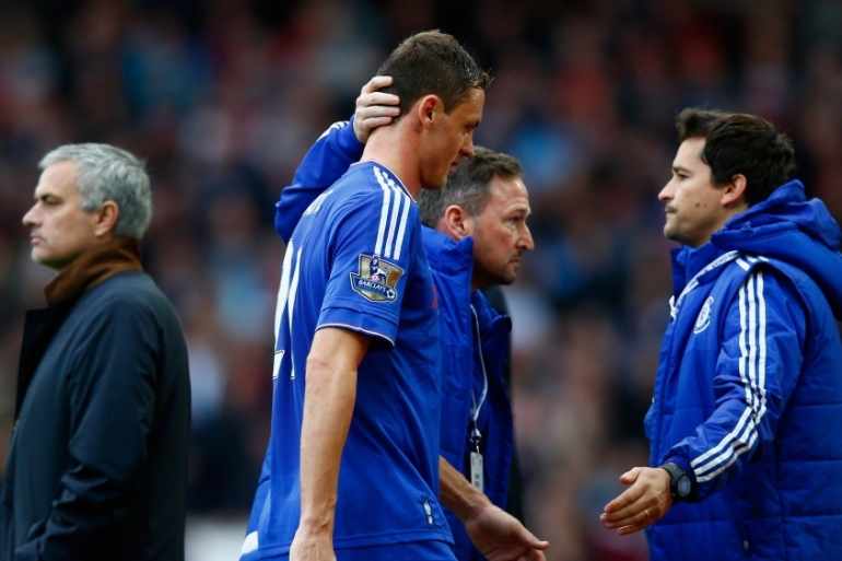 Matic was dismissed after two yellow cards [Getty Images]