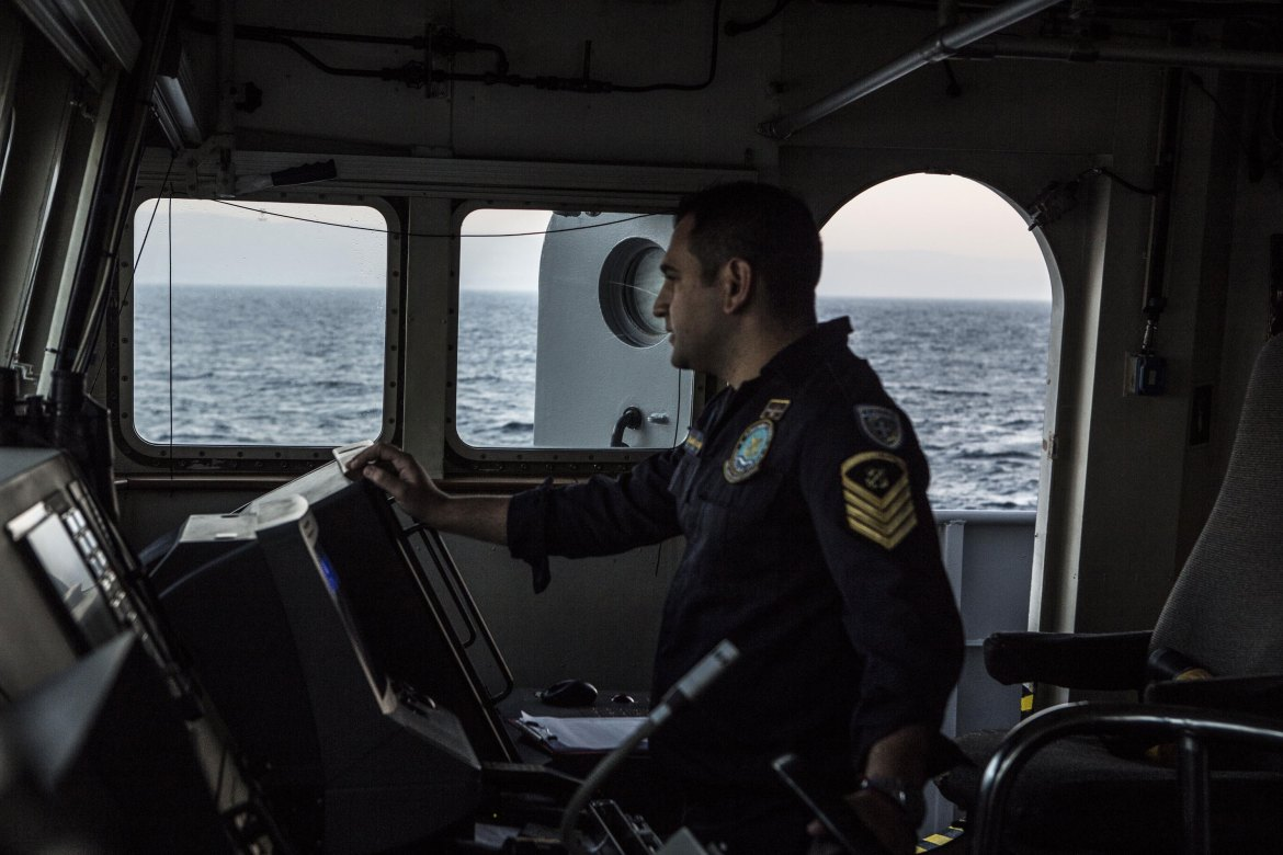 The crew's sole mission is to save lives. [Anna Pantelia/Al Jazeera]