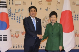 Abe has sought talks with Park amid a push by the United States for Japan and South Korea to improve relations [AP]