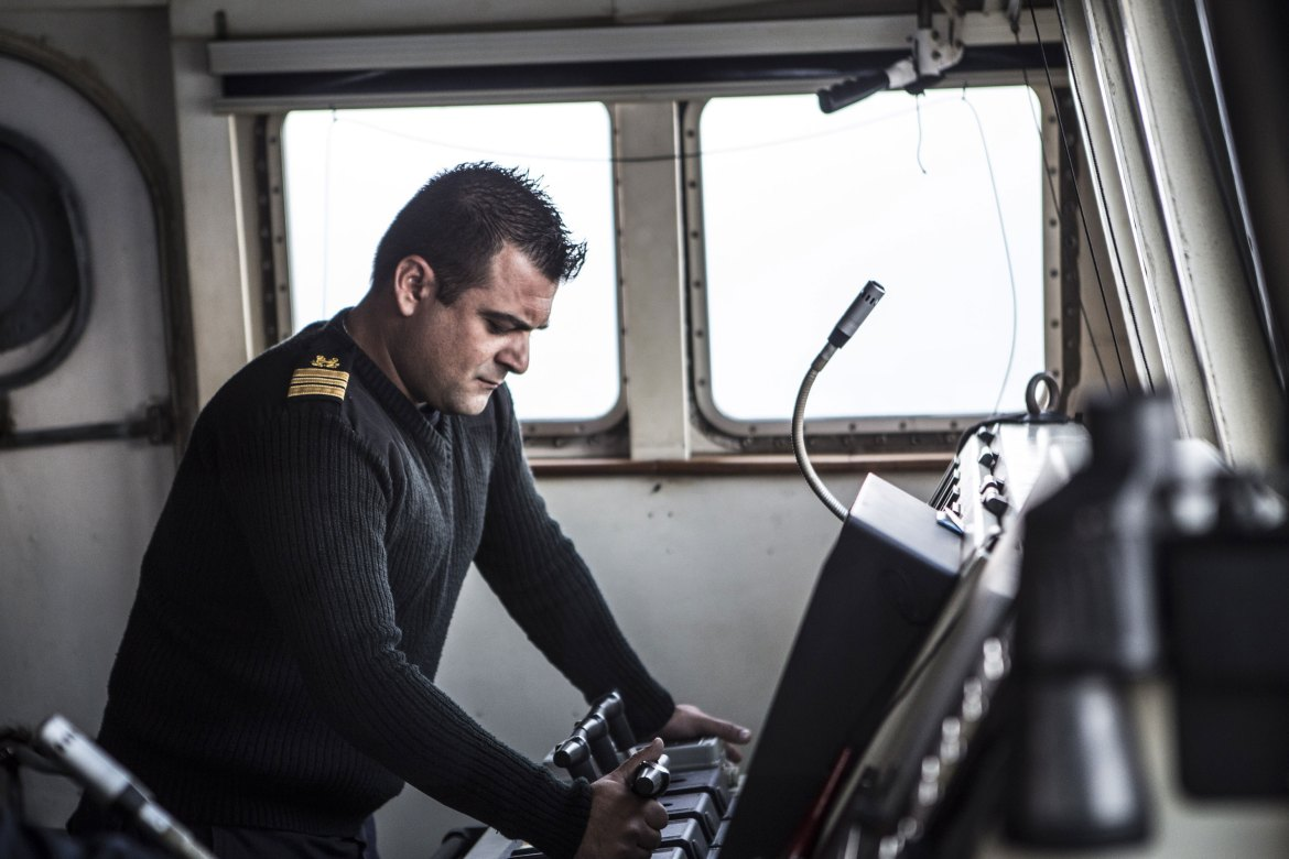 Captain Argyris Frangoulis says there are times he cannot sleep when he thinks of the lives that have been lost at sea during the recent refugee crisis. [Anna Pantelia/Al Jazeera]