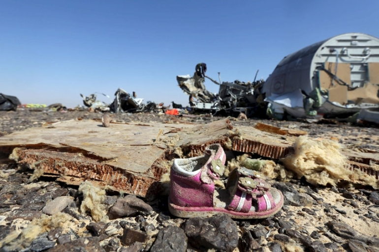Russian intelligence service FSB said traces of explosives had been found in the debris of the airliner [Mohamed Abd El Ghany/Reuters]