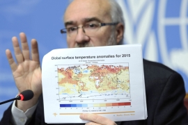 WMO director-general Jarraud called for immediate action in the fight against climate change [Martial Trezzini/Keystone via AP]