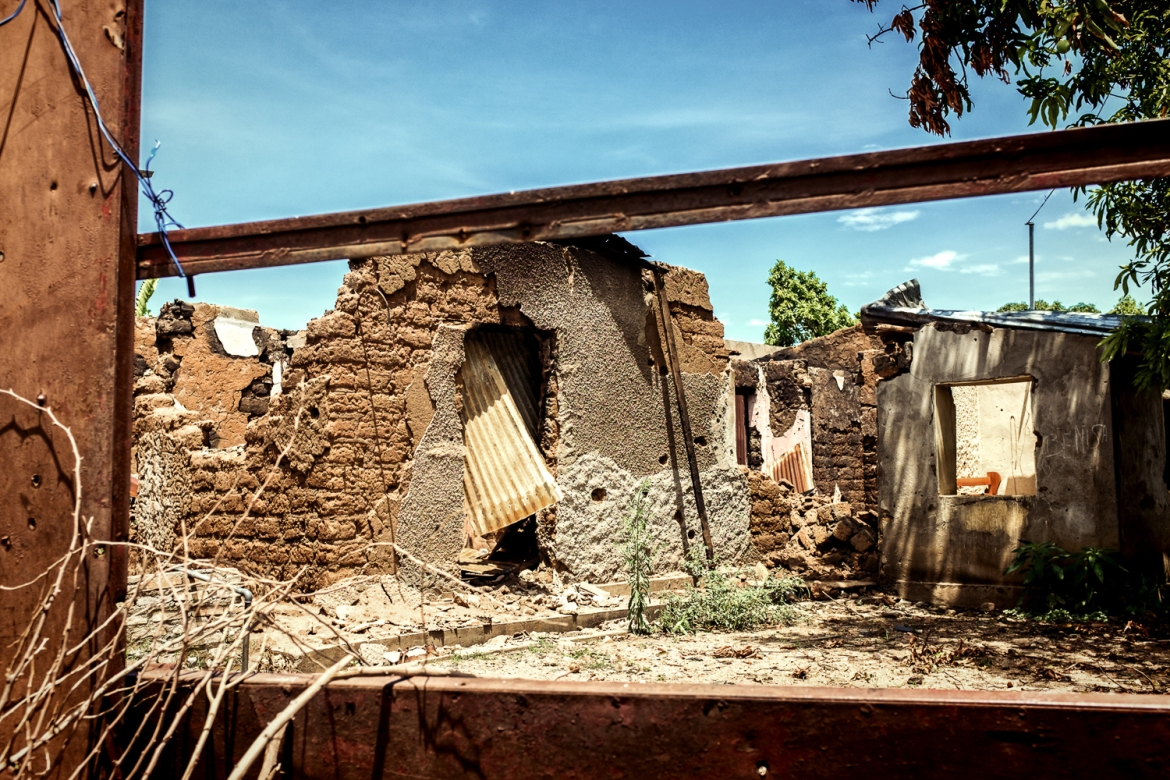 A house taken down by a rocket in Mutakura, north of Bujumbura, on July 1. Six people died in the attack. [Al Jazeera]