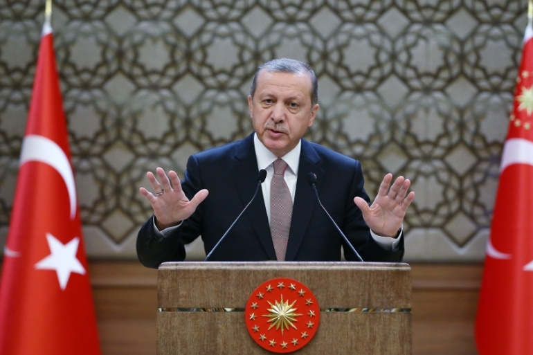 "President Recep Tayyip Erdogan on Thursday insisted his country's fight against the group was ""undisputed"" [EPA]"