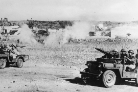 Jewish paramilitary organisation, Haganah, attacking Palestinian Arab villages in Galilee in 1948 [PhotoQuest/Getty]