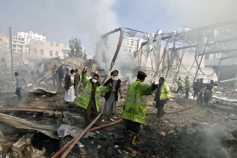 At least 5,600 people have been killed in seven months of war in Yemen [Khaled Abdullah/Reuters]