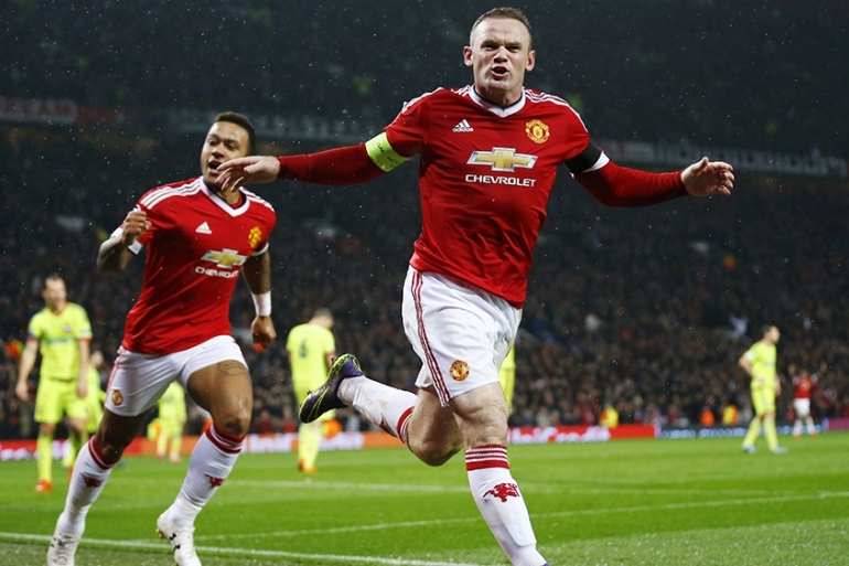 Rooney's header has taken Manchester United to the top of their group [Reuters]