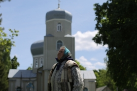 About 200km from Kiev, in the village of Velyka Sevastianivka, a pro-Russian priest was ousted after 25 years of service [Rabii Kalboussi/Al Jazeera]