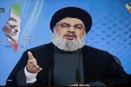 In a TV statement on Monday, Nasrallah said Hezbollah would respond to commander Kantar's killing [Al-Manar/EPA]