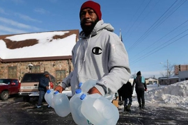 "Officials in Flint say the lead poisoning of its water supply was a ""made-made"" disaster [AP]"
