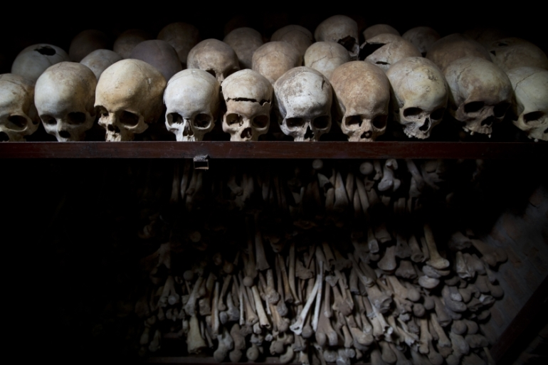 Some 800,000 people, mostly Tutsis but also moderate Hutus, died in the 1994 genocide [File: Ben Curtis/AP]