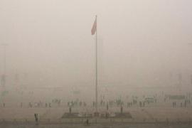 Hazardous smog levels in Beijing, the view over Tiananmen Square [Getty]