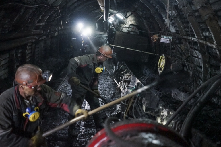 Coal from Ukrainian mines, like this one in Krasnodon, might not provide a sufficient source of energy for Ukraine this winter [Mstyslav Chernov/AP]
