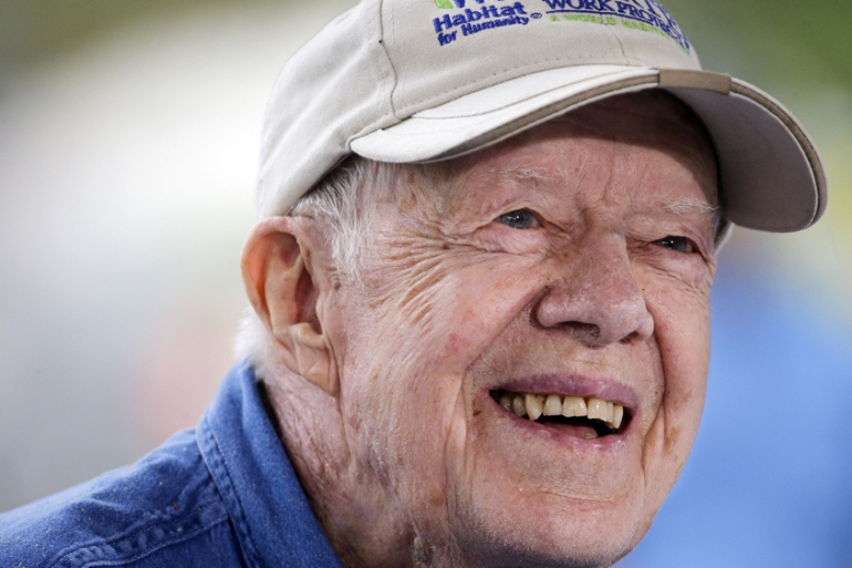 Carter will will continue to receive regular three-week immunotherapy treatments of pembrolizumab [Mark Humphrey/AP]