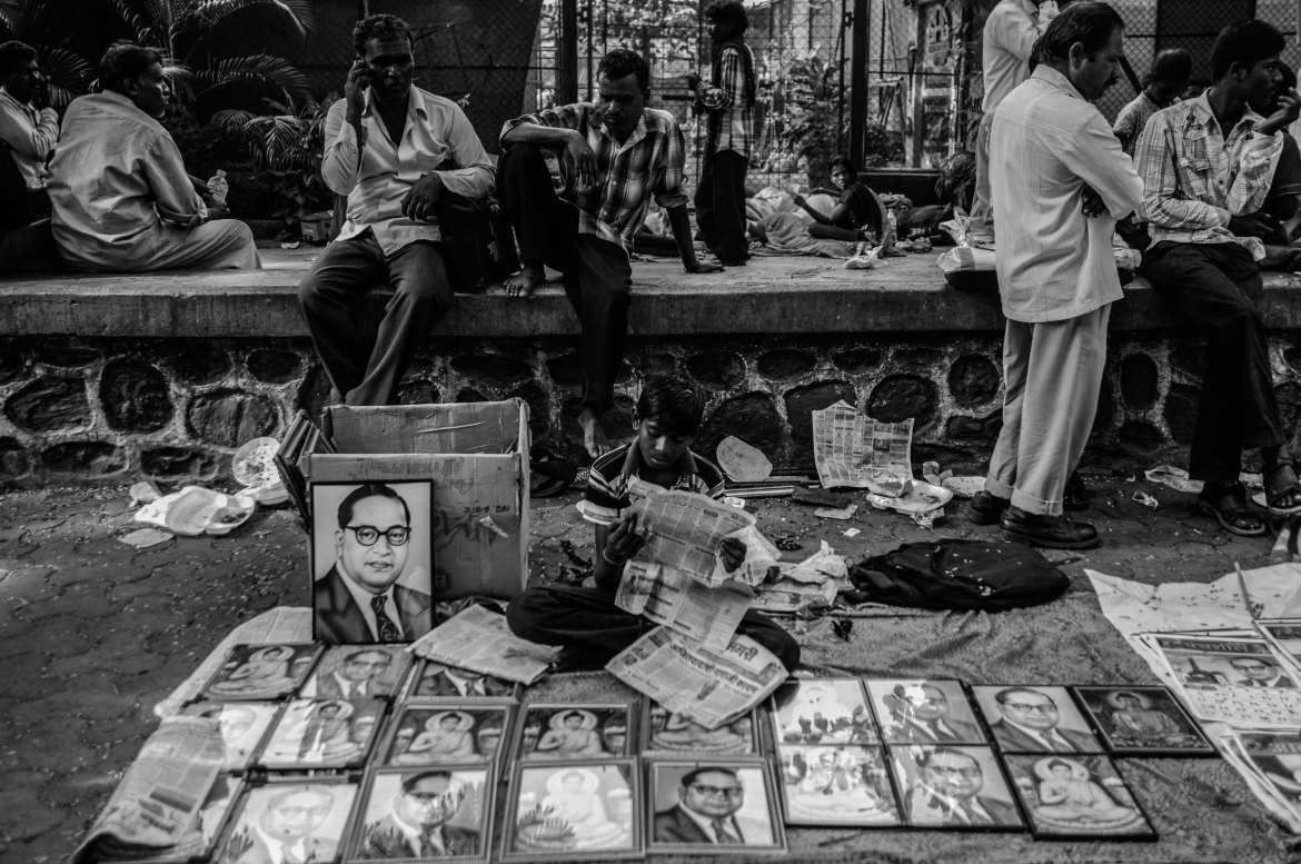 'Educate, organise, agitate' was one of the main slogans used by Ambedkar. The event puts a large emphasis on reading, writing and understanding the world. [Javed Iqbal/Al Jazeera]