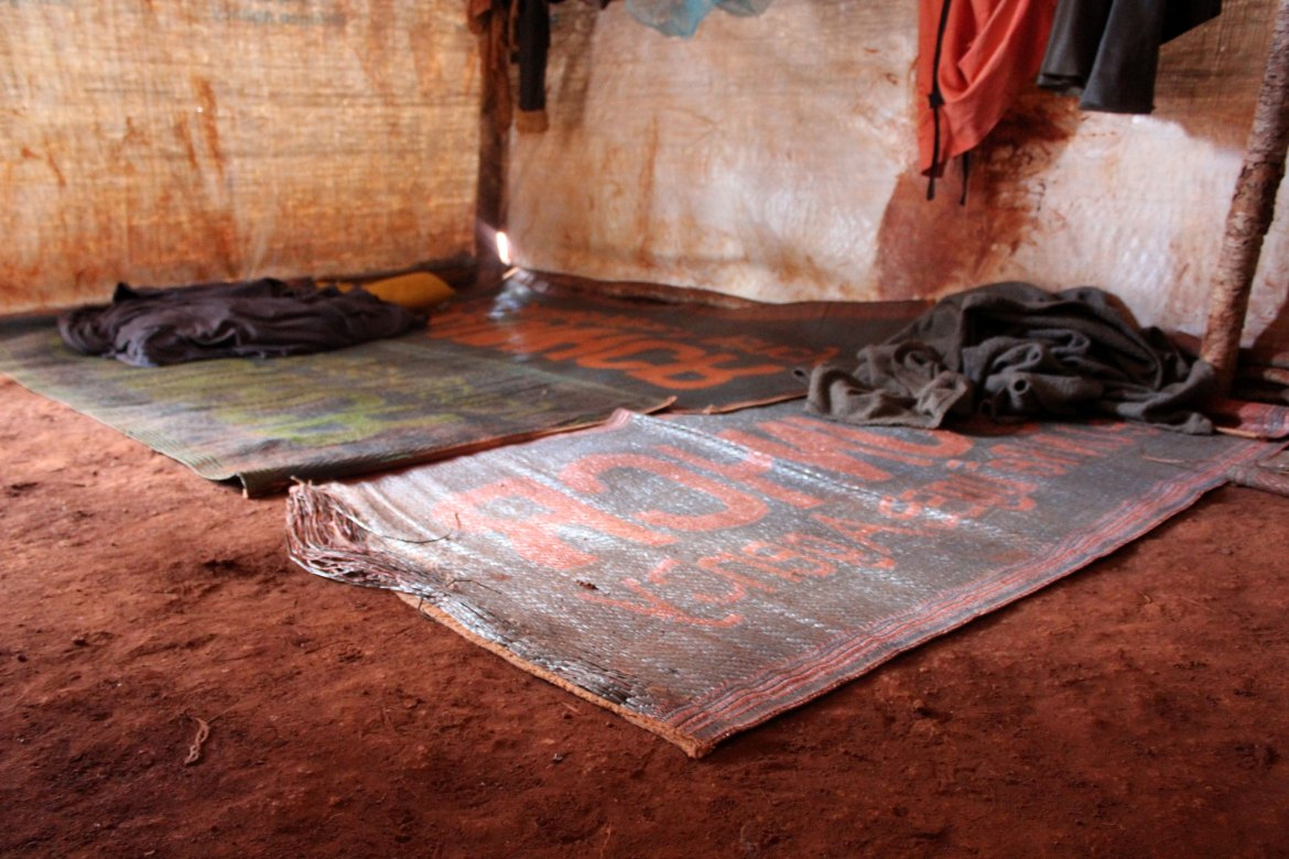 Refugees at Nyarugusu camp receive a sleeping mat and one blanket on arrival. They say this is insufficient. [Tendai Marima/Al Jazeera]