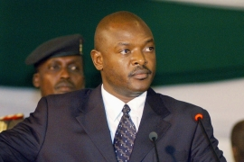 Nkurunziza was sworn in as president for a third term in power in August after July's disputed elections [Riccardo Gangale/AP Photo]