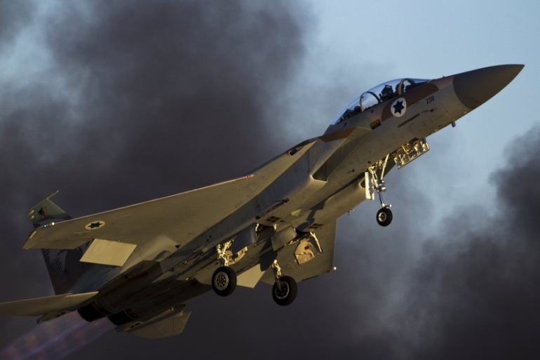 None of the missiles fired by Syria struck the jets, the Israeli army says [File: Reuters]