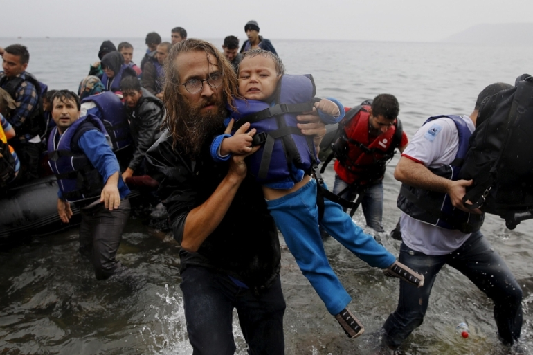 At least 244 people have died on their way to Europe so far in January while fleeing war and persecution, according to the IOM [Yannis Behrakis/Reuters]