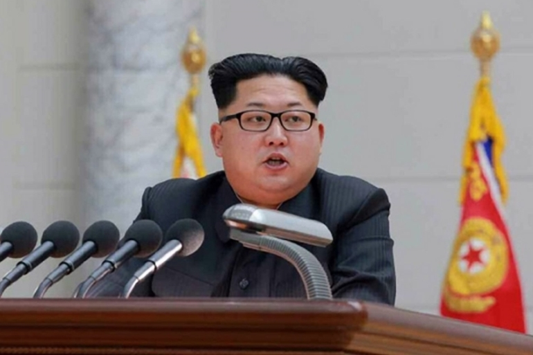 Kim Jong-un called the alleged hydrogen bomb test 'a self-defensive step' meant to protect the region [File: EPA]