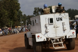 The UN mission to the Central African Republic is made up of 11,000 peacekeepers [Andrew Medichini/AP Photo]