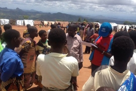 Staff from UN's refugee agency register new arrivals in Kapise [UNHCR]