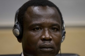 Dominic Ongwen was arrested in 2015 and transferred to the ICC to face trial [File: Peter Dejong/EPA]