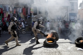 Demonstrations against the electoral process in Port-au-Prince have rocked Haiti [Andres Martinez/Reuters]