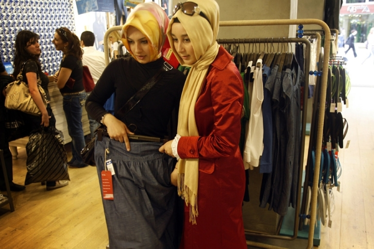Muslim consumers spend an estimated $230bn on clothing - more than the combined clothing markets of the UK, Germany and India [Yoray Liberman/Getty Images]