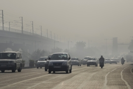 Residents complain of the dense smog which often engulfs the city in the morning [Altaf Qadri/AP]