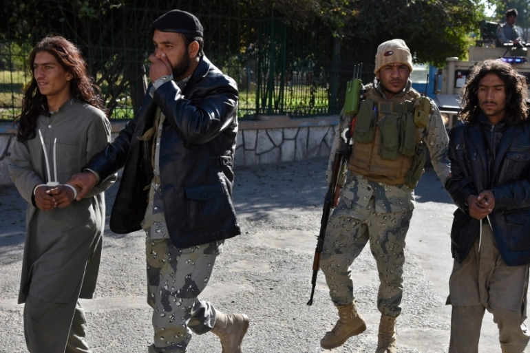 Afghan security services arrest two alleged members of the group calling themselves the Islamic State in Nangarhar [EPA]
