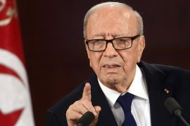 President Essebsi says law must be applied, but freedoms are to be respected [AFP]