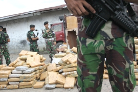 Massive drug busts are well publicised in Indonesia  [Getty Images]